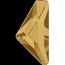 Swarovski Crystal Flatback No Hotfix 2738 Triangle Alpha Flat Back (12.00x6.00 mm) - Light Colorado Topaz (F) - 96 Pcs
