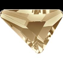 Swarovski Crystal Flatback No Hotfix 2739 Triangle Beta Flat Back (5.80x5.30 mm) - Crystal Golden Shadow (F) - 216 Pcs