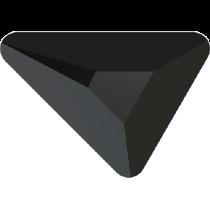 Swarovski Crystal Flatback No Hotfix 2739 Triangle Beta Flat Back (5.80x5.30 mm) - Jet (F) - 216 Pcs
