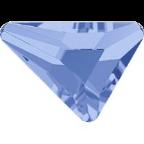 Swarovski Crystal Flatback No Hotfix 2739 Triangle Beta Flat Back (5.80x5.30 mm) - Light Sapphire (F) - 216 Pcs