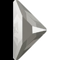 Swarovski Crystal Flatback Hotfix 2740 Triangle Gamma Flat Back(10.00x10.00 mm) - Crystal Dark Grey (F) - 96 Pcs