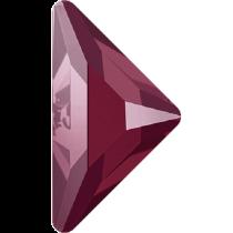 Swarovski Crystal Flatback Hotfix 2740 Triangle Gamma Flat Back(10.00x10.00 mm) - Crystal Dark Red (F) - 96 Pcs