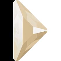Swarovski Crystal Flatback Hotfix 2740 Triangle Gamma Flat Back(10.00x10.00 mm) - Crystal Ivory Cream (F) - 96 Pcs