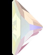 Swarovski Crystal Flatback No Hotfix 2740 Triangle Gamma Flat Back(10.00x10.00 mm) - Crystal Aurore Boreale(F) - 96 Pcs