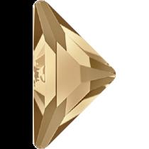 Swarovski Crystal Flatback No Hotfix 2740 Triangle Gamma Flat Back(10.00x10.00 mm) - Crystal Golden Shadow (F) - 96 Pcs