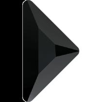 Swarovski Crystal Flatback No Hotfix 2740 Triangle Gamma Flat Back(10.00x10.00 mm) - Jet (F) - 96 Pcs