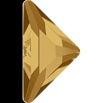 Swarovski Crystal Flatback No Hotfix 2740 Triangle Gamma Flat Back(10.00x10.00 mm) - Light Colorado Topaz (F) - 96 Pcs