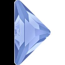 Swarovski Crystal Flatback No Hotfix 2740 Triangle Gamma Flat Back(10.00x10.00 mm) - Light Sapphire (F) - 96 Pcs