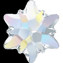 Swarovski Crystal Flatback No Hotfix 2753 Edelweiss Flat Back (10 mm) - Crystal Aurore Boreale (F) - 72 Pcs