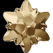 Swarovski Crystal Flatback No Hotfix 2753 Edelweiss Flat Back (10 mm) - Crystal Golden Shadow (F) - 72 Pcs