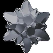 Swarovski Crystal Flatback No Hotfix 2753 Edelweiss Flat Back (10 mm) - Crystal Silver Night (F) - 72 Pcs