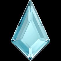 Swarovski Crystal Flatback Hotfix 2771 Kite Flat Back (12.90x8.30 mm) - Aquamarine (F) - 144 Pcs