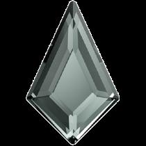 Swarovski Crystal Flatback Hotfix 2771 Kite Flat Back (6.40x4.20 mm) - Black Diamond (F) - 288 Pcs