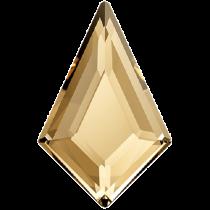 Swarovski Crystal Flatback Hotfix 2771 Kite Flat Back (6.40x4.20 mm) - Crystal Golden Shadow (F) - 288 Pcs