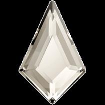 Swarovski Crystal Flatback Hotfix 2771 Kite Flat Back (6.40x4.20 mm) - Crystal Silver Shade (F) - 288 Pcs