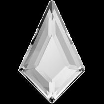 Swarovski Crystal Flatback Hotfix 2771 Kite Flat Back (12.90x8.30 mm) - Crystal (F) - 144 Pcs