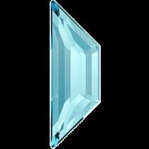 Swarovski Crystal Flatback Hotfix 2772 Trapeze Flat Back (12.90x4.20 mm) - Aquamarine (F) - 144 Pcs