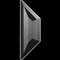 Swarovski Crystal Flatback Hotfix 2772 Trapeze Flat Back (12.90x4.20 mm) - Jet Hematite (F) - 144 Pcs