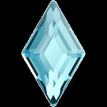 Swarovski Crystal Flatback Hotfix 2773 Diamond Shape Flat Back (6.60x3.90 mm) - Aquamarine (F) - 216 Pcs