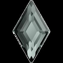 Swarovski Crystal Flatback Hotfix 2773 Diamond Shape Flat Back (6.60x3.90 mm) - Black Diamond (F) - 216 Pcs