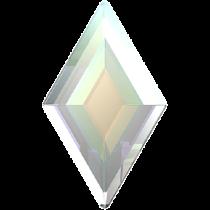 Swarovski Crystal Flatback Hotfix 2773 Diamond Shape Flat Back (6.60x3.90 mm) - Crystal Aurore Boreale (F) - 216 Pcs
