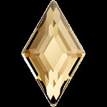 Swarovski Crystal Flatback Hotfix 2773 Diamond Shape Flat Back (6.60x3.90 mm) - Crystal Golden Shadow (F) - 216 Pcs
