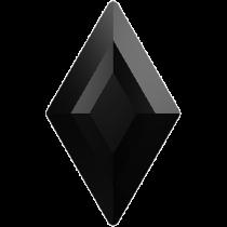 Swarovski Crystal Flatback Hotfix 2773 Diamond Shape Flat Back (6.60x3.90 mm) - Jet (F) - 216 Pcs