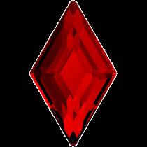 Swarovski Crystal Flatback Hotfix 2773 Diamond Shape Flat Back (6.60x3.90 mm) - Light Siam (F) - 216 Pcs