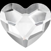 Swarovski Crystal Flat Back Hotfix 2808 Heart Flat Back (10 mm)- Crystal (F) - 144 Pcs