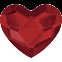 Swarovski Crystal Flat Back Hotfix 2808 Heart Flat Back (10 mm)- Light Siam (F) - 144 Pcs