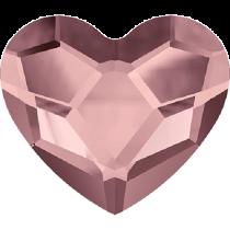 Swarovski Crystal Flat Back No Hotfix 2808 Heart Flat Back (10 mm)- Crystal Antique Pink (F) - 144 Pcs