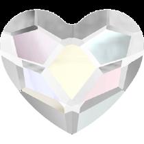 Swarovski Crystal Flat Back No Hotfix 2808 Heart Flat Back (10 mm)- Crystal Aurore Boreale (F) - 144 Pcs