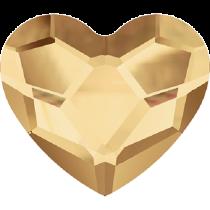 Swarovski Crystal Flat Back No Hotfix 2808 Heart Flat Back (10 mm)- Crystal Golden Shadow (F) - 144 Pcs