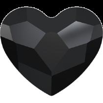 Swarovski Crystal Flat Back No Hotfix 2808 Heart Flat Back (10 mm)- Jet (F) - 144 Pcs