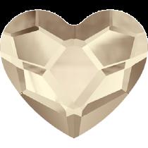 Swarovski Crystal Flat Back No Hotfix 2808 Heart Flat Back (10 mm)- Light Silk (F) - 144 Pcs