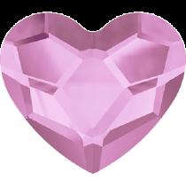 Swarovski Crystal Flat Back No Hotfix 2808 Heart Flat Back (10 mm)- Rosaline (F) - 144 Pcs