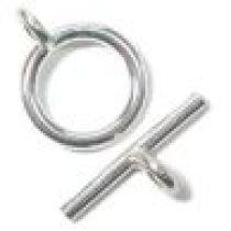 Sterling Silver (Anti Tarnish) Plain Toggle Clasp(11x18mm)