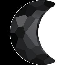 Swarovski Crystal Flatback No Hotfix 2813 Moon Flat Back (8.00x5.50 mm) - Jet (F) - 144 Pcs