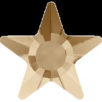 Swarovski Crystal Flat Back Hotfix 2817 Star Flat Back (5mm) - Crystal Golden Shadow (F) - 720 Pcs