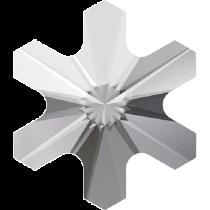 Swarovski Crystal Flatback Hotfix 2826 Rivoli Snowflake Flat Back (5 mm) - Crystal (F) - 720 Pcs