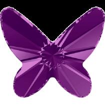 Swarovski Crystal Flatback No Hotfix 2854 Butterfly Flat Back (12 mm) - Amethyst  (F) - 144 Pcs