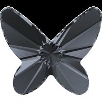 Swarovski Crystal Flatback No Hotfix 2854 Butterfly Flat Back (12 mm) - Crystal Silver Night (F) - 144 Pcs