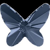 Swarovski Crystal Flatback No Hotfix 2854 Butterfly Flat Back (8 mm) - Demin Blue (F) - 216 Pcs