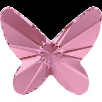 Swarovski Crystal Flatback No Hotfix 2854 Butterfly Flat Back (12 mm) - Light Rose (F) - 144 Pcs