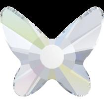 Swarovski Crystal Flatback Hotfix 2855 Butterfly Flat Back (8 mm) - Crystal Aurore Boreale (F) - 216 Pcs