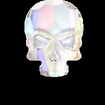 Swarovski Crystal Flat Back Hotfix 2856 Skull Flat Back (14.00x10.50mm) - Crystal Aurore Boreale (F) - 36 Pcs