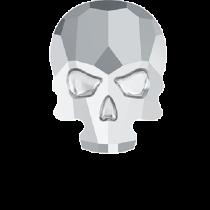 Swarovski Crystal Flat Back Hotfix 2856 Skull Flat Back (10.00x7.50mm) - Crystal Light Chrome (F) - 72 Pcs