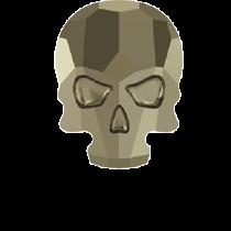 Swarovski Crystal Flat Back Hotfix 2856 Skull Flat Back (10.00x7.50mm) - Crystal Metallic Light Gold (F) - 72 Pcs
