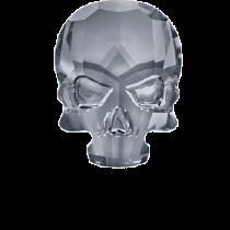 Swarovski Crystal Flat Back Hotfix 2856 Skull Flat Back (10.00x7.50mm) - Crystal Silver Night (F) - 72 Pcs