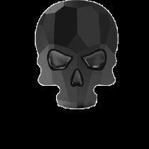 Swarovski Crystal Flat Back Hotfix 2856 Skull Flat Back (14.00x10.50mm) - Jet (F) - 36 Pcs